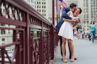 Stephanie + Ryan's Summer Chicago Engagement Portraits