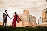 Prianka + Azam's downtown Indianapolis Engagement Portraits by Stacy Able Photography